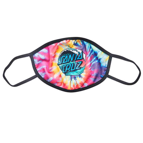 Wave Dot Face Mask Tie Dye OS Unisex Santa Cruz