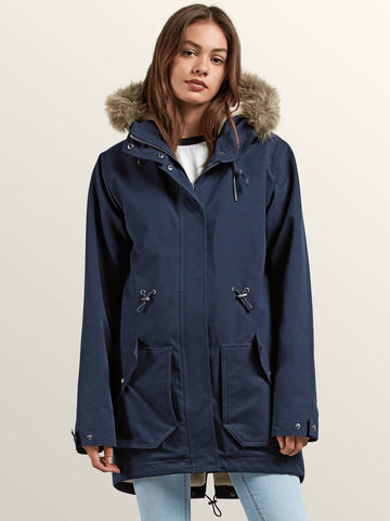 18/19 Volcom Womens Less is More Parka Sea Navy