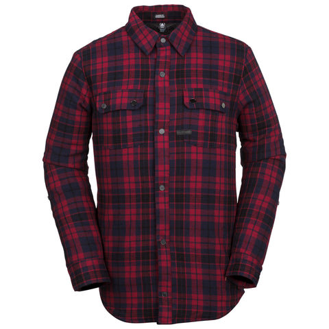 18/19 Volcom Mens Sherpa Flannel Jacket Red