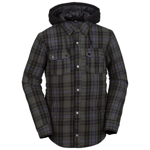 18/19 Volcom Mens Field Insulated Flannel Black
