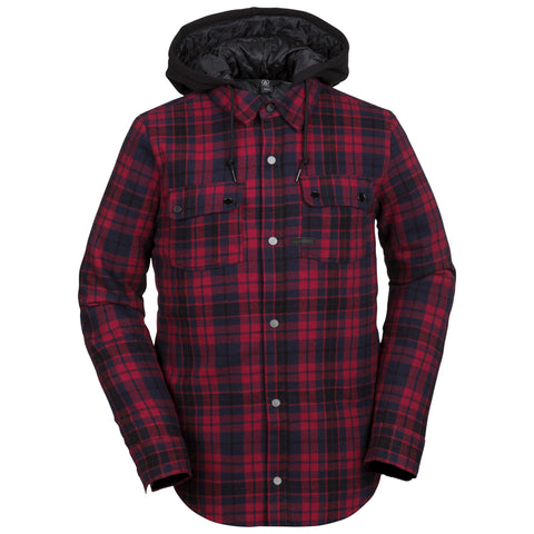 18/19 Volcom Mens Field Insulated Flannel Red
