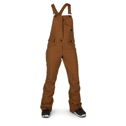 18/19 Volcom Womens Swift Bib Overall Copper
