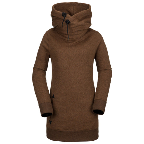 18/19 Volcom Womens Tower Pullover Fleece Copper