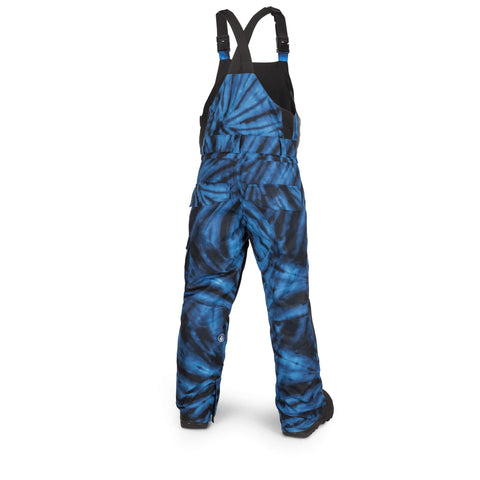 18/19 Volcom Youth Barkley Bib Overall Blue Tie Dye