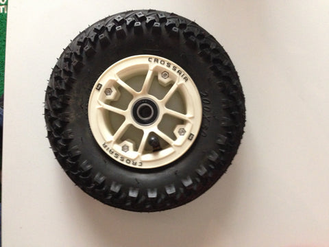 200 x 50 Mountain Kiteboard Tire, Tube, Crossfire Hub, and bearing
