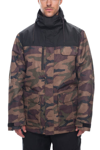 18/19 686 Mens Sixer Insulated Jacket Dark Camo Colorblock