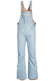 19/20 686 Womens Black Magic Insulated Overall Grey Lt Blue Denim