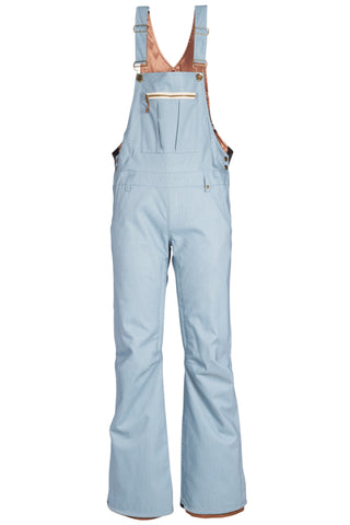 18/19 686 Womens Black Magic Insulated Overall Grey Lt Blue Denim
