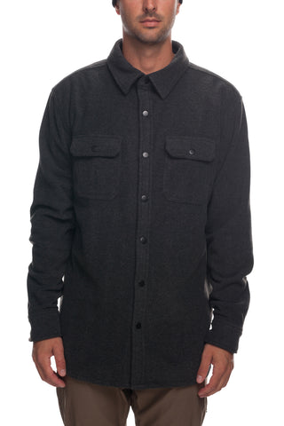 18/19 686 Mens Sierra Fleece Flannel Jacket Charcoal Heather