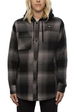 20/21 686 Womens Sherpa Lined Flannel BLK
