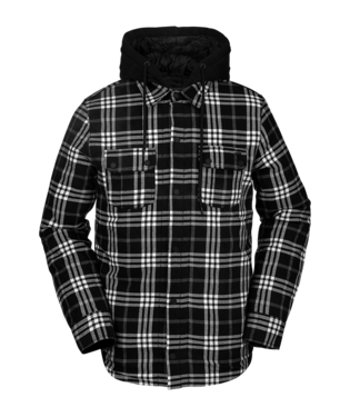 20/21 Volcom Mens Field Insulated Flannel Black