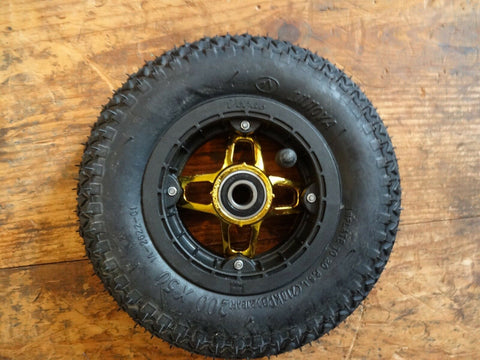 Crossair Vegas Black/Gold 200 x 50 Mountainboard Kiteboard wheel, hub, tube, bearing