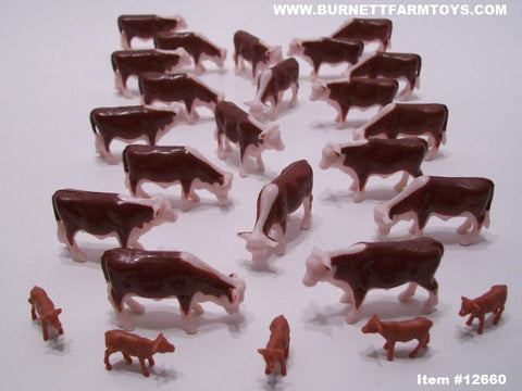 Item #12660 Hereford Cow Calf Pack - 1/64 Scale