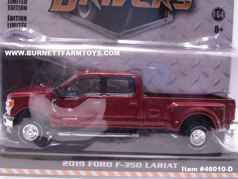 Item #46010-D Burgundy 2019 Ford F-350 4-Door Dually Lariat Pickup Truck