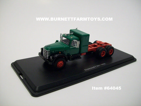 Item #CAB 64045 NEO Green Black Red 1955 Diamond T Cab - 1/64 Scale