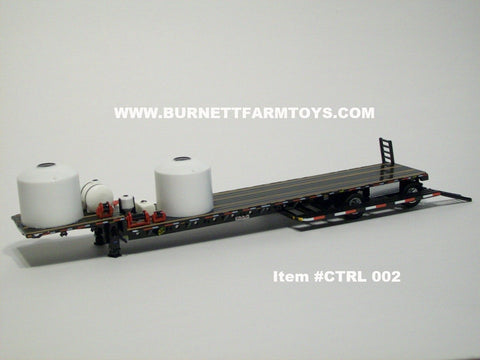 Item #CTRL 002 Black Stepdeck Sprayer Trailer with Ramps