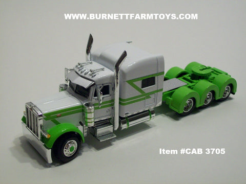 "Item #CAB 3705 White Lime Peterbilt 70"" Tri-Axle"