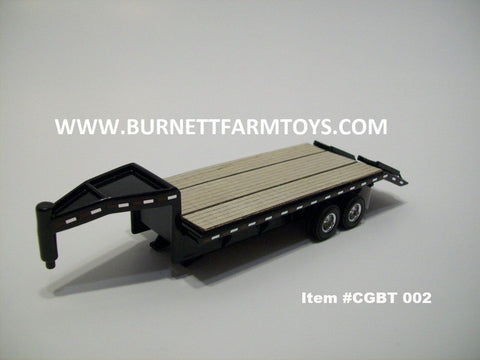 Item #CGBT 002 Black Frame Woodfloor Gooseneck Trailer with Ramps