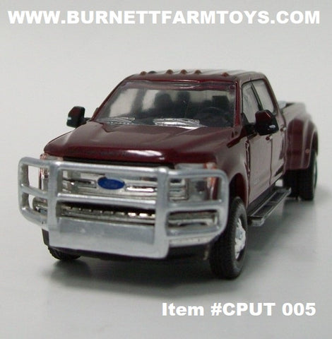 Item #CPUT 005 Radiant Red Metallic 2019 Ford F-350 Pickup Truck with Grill Guard and Toolbox