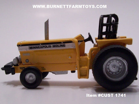 Item #CUST 1741 Resin Minneapolis-Moline G-1000 Wheat Fed Pro-Stock Pulling Tractor - 1/64 Scale