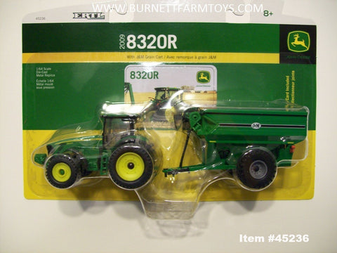 1/64 Scale John Deere 8320R with J&M Grain Cart Set