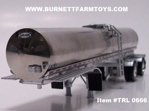 Item #TRL 0666 Polished Spread Axle Walker Milk Tanker Trailer