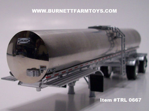 Item #TRL 0667 Polished Spread Axle Walker Milk Tanker Trailer