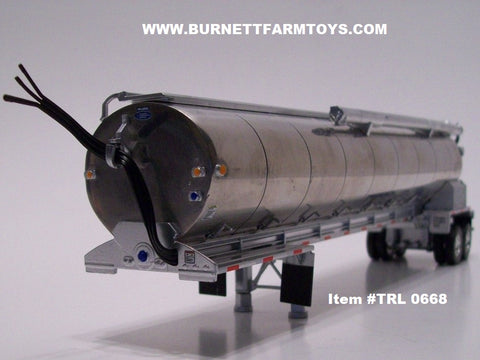 Item #TRL 0668 Polished Tandem Axle Walinga Bulk Feed Tanker Trailer