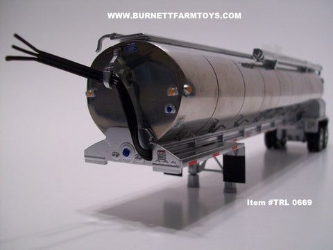 Item #TRL 0669 Polished Tandem Axle Walinga Bulk Feed Tanker Trailer