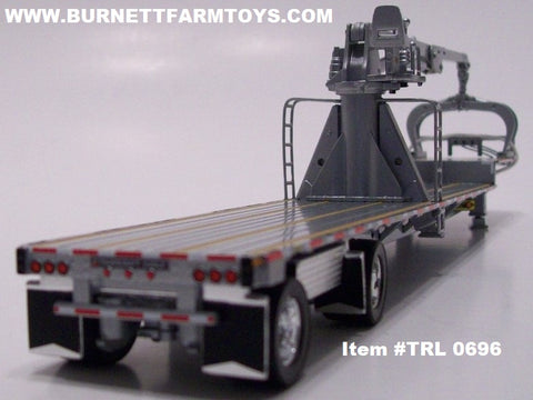 Item #TRL 0696 Silver Frame Spread Axle Transcraft Stepdeck Trailer with Silver Boom Arm