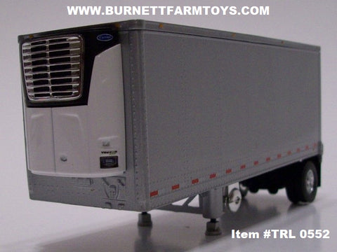 Item #TRL 0552 All Silver Single Axle Wabash Refrigerated Pup Trailer with Carrier Refrigerator Unit - 1/64 Scale