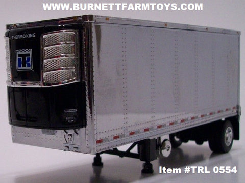 Item #TRL 0554 Chrome with Black Frame Single Axle Wabash Refrigerated Pup Trailer with Thermo King Refrigerator Unit