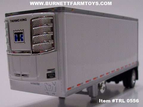 Item #TRL 0556 White with Silver Trim Single Axle Wabash Refrigerated Pup Trailer with Thermo King Refrigerator Unit
