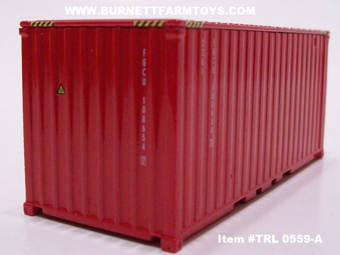 Item #TRL 0559-A Red Short Shipping Container