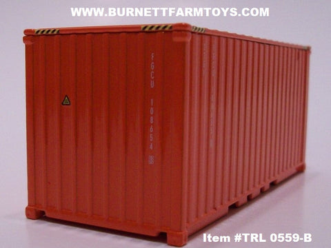 Item #TRL 0559-B Orange Short Shipping Container