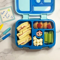 Children's lunchbox with food and love note