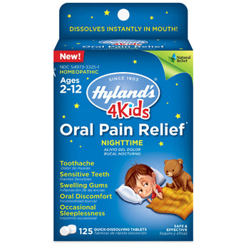 Hyland's 4 Kids Oral Pain Relief Nighttime Tablets
