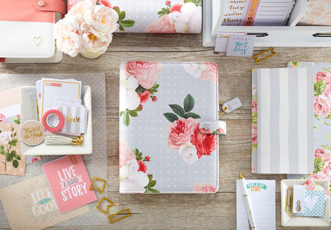 Color Crush Grey Floral A5 Planner