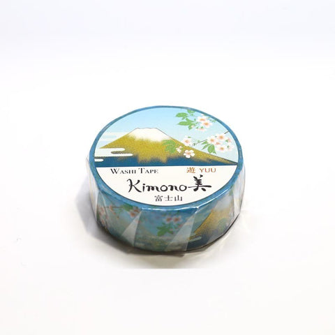 Mountain Fuji Kimono Japanese Washi Tape Mt. Fuji Gold Foil Tape