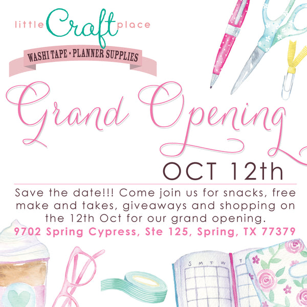 Grand Opening of Little Craft Place - Oct 12th