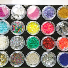 Some cute glitters and sequins we carry in Little Craft Place