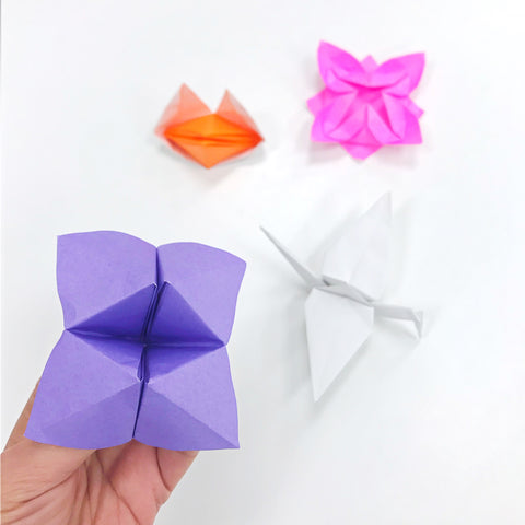 Fortune Teller, Fox Puppet, Crane and Waterlily Origami