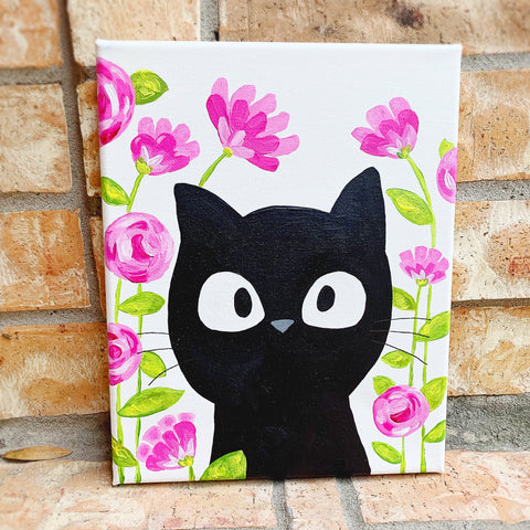 Kitty Cat painting class at Little Craft Place