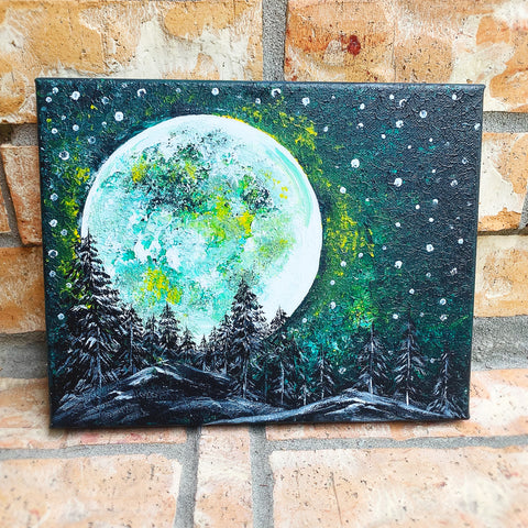 Full Moon painting class at Little Craft Place