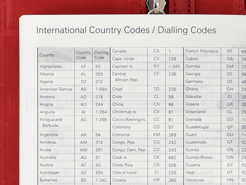 International Country Codes Dialling Codes