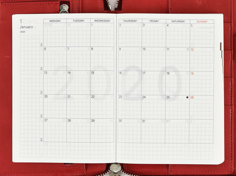 Labeling 2020 Hobonichi Techo Planner 2019