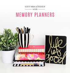 The Memory Planner Collection combines organization and daily memory keeping into a gorgeous planner that is portable, functional and fun!