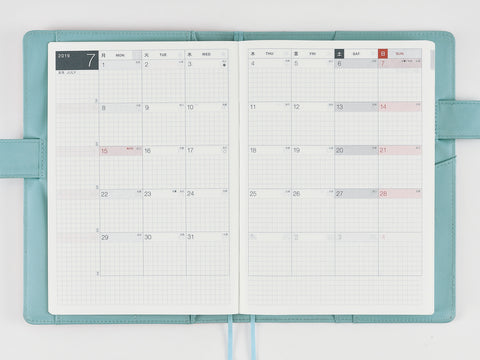 Hobonichi Techo Cousin A5 2019 Monthly Calendar
