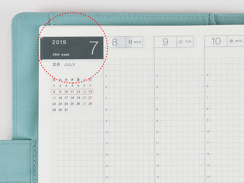 Hobonichi Techo Cousin A5 2019 Monthly data