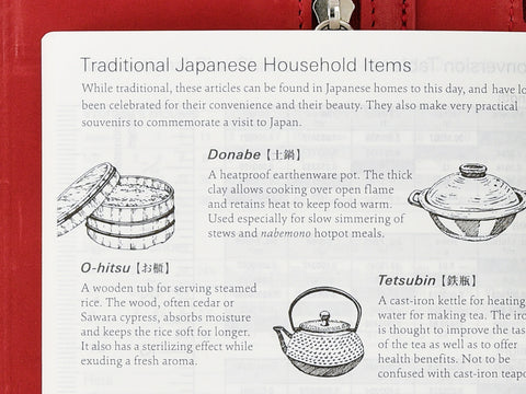 Hobonichi Techo Planner Traditional Japanese Household Items